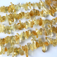 16 Inch Natural Citrine Nugget 15-24mm Beads